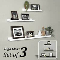 Floating Shelves Wall Shelf Decor Display Unit Storage Wood Mount Picture Ledge