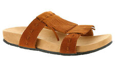 Women's Minnetonka Daisy Slide,  Sandal Brown Suede size 6