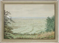G. Merrett - Mid 20th Century Watercolour, The River Severn from Frocester