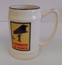 Guinness Tankard, Vintage 'Guinness for Strength' Ad Print, Carrigaline Pottery