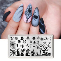 BORN PRETTY Nagel Stempel Schablone Halloween Nail Art Stamping Template Plates