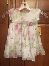 NWT C I Castro & Co Baby Toddler Summer Dress Sz 12 Month Floral Shirt Sleeves