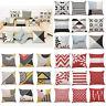 Latest Throw Cotton Waist Home Case Geometric Pillow Cover Sofa Cushion Decor