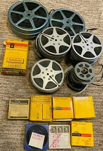 VINTAGE 1950's-70's LOT OF 40 REELS ORIGINAL 8mm-16mm COLOR HOME MOVIES UNKNOWN