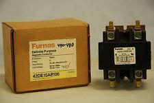 Furnas 42DE15AH106 Definite Purpose Contactor 50A 63A 480V Coil