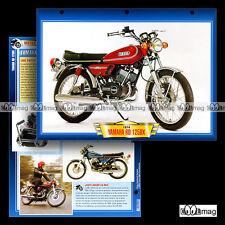 #130.10 Fiche Moto YAMAHA RD 125 DX (RDX) 1974-1980 Motorcycle Card