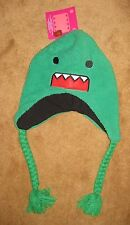 DOMO Fuzzy Green LapLander Adult Hat Beanie Knit One Size Most