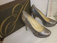 Enzo Angiolini Size 7.5 M SMILES Silver Pewter Heels Pumps New Womens Shoes