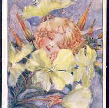 "Sowerby.""Evening Primrose"" Flower Fairy Sleeps Till Stars Appear,Old Postcard"