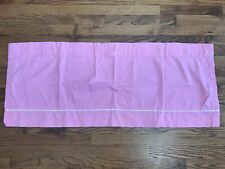 Pottery Barn Kids Pink Valance With White Piping 18x44""