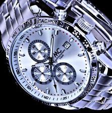 MC Herren Armband Uhr Silber Farben Datum Chronograph Stoppuhr