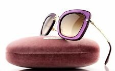 NEW Genuine MIU MIU  Burgundy Amaranth Gold Gradient Sunglasses 0MU 07OS UFY-6S1