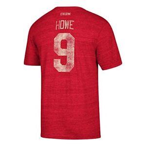 Detroit Red Wings Retro Gordie Howe Alumni Player CCM Vintage T-Shirt Red