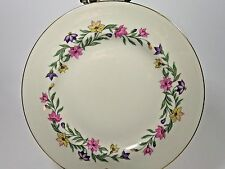 Set of 2 Pickard China Garland Bread Butter Plates Pink Purple Yellow Flowers