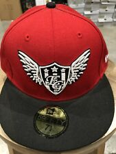 "New Era ""Exclusive Game"" Fitted Cap In Rd/Blk Sz.7 1/4 NWT100% Authentic!"