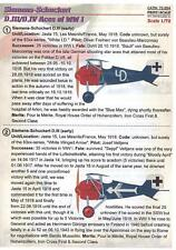 Print Scale Decals 1/72 SIEMENS SCHUCKERT D.III & D.IV ACES German WWI Fighter