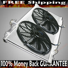 Dual Core Radiator+ Fans for 03-09 Nissan 350Z 2D Manual Transmission 2 Row 2""