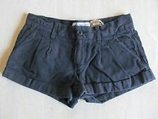 Victoria's Secret PINK Women's Sz 2 Cotton SHORTS Cuffed Pleats Gold Details EUC