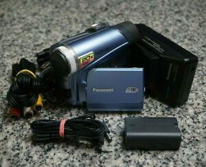VTG Panasonic PV-GS9 Mini DV Camcorder NTSC 20x W/ Extras Tested Free Shipping