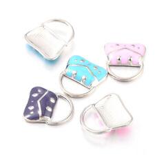 5PCS Mixed Enamel Handbag Alloy Charms Pendants For DIY Jewelry Making 19x17mm