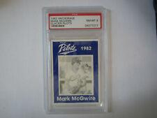 1982 Anchorage Glacier Pilots Mark McGwire Card Graded 8 NM-MT PSA Oakland A's