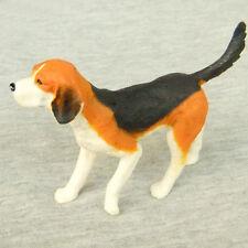Beagle Dog Lifelike Miniature Figurine Fairy Garden Dollhouse Shelf Decor Toy