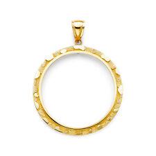 14K gold Nugget bezel for Mexican 50 Pesos EJCM34826