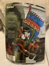 """Vintage Bucia Christmas Stocking Candy Train Express 18"""""""
