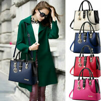 Women's PU Leather Handbag Shoulder Messenger Satchel Tote Crossbody Bags Purse