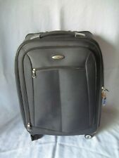 "Samsonite 27"" Spinner Soft Case Luggage Expandable Gray With Garment Bag & Lock"