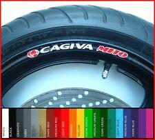 8 x CAGIVA MITO Wheel Rim Stickers Decals - 20 Colours Available - 50 125 evo sp