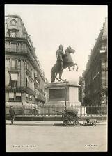 c1900 Photograph Statue Louis XIV in Paris, Société Industrielle, S.I.P.