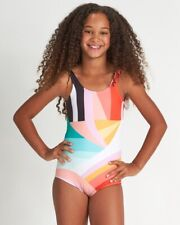 Billabong Girls Easy On Me One-Piece Swimsuit $66 Multicolored Size 8 ZP-4542