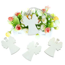 10pcs Wooden Angel Shaped Pendants Christmas Party Decor Hanging FO