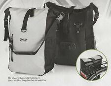 Fahrrad-Gepäcktaschen-Set Fahrradgepäcktasche Kuriertasche 2 St. m. Regenschutz