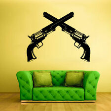 Wall Decal Vinyl Sticker Decals Guns Cowboy Revolvers decor art poster (z1391)