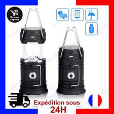 Lampe de Camping Etanche LED Rechargeable Lanterne Lampe Solaire Exterieur