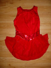 Womens-Dance-Ice Skating Skate-Leotard Bodysuit-Dress-Competition-Costume-XS
