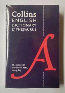 COLLINS   ENGLISH DICTIONARY & THESAURUS   STATIONERY & SCHOOL EQUIPMENT