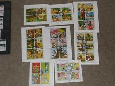 Sharjah & Dependencie, Cartoon Characters, Blocks of 4 & 6, all cancelled