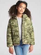 Gap Kids Girl's Camo Cold Control Max Sherpa Puffer Jacket Coat L 10 NWT