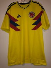 adidas Colombia Men's Jersey Football Soccer FIFA World Cup 2018 Yellow Size XL