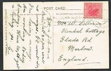 More details for c.1915 western australia mundaring weir postcard marlow 1d red with message fu