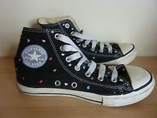 459990c5cd4c Converse Chuck Taylor All Stars Hearts Hi Tops Girls Size 2 Canvas Laced  Black