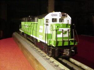 "MTH O scale GE C30-7 Diesel Engine  1/4"" Scale Burlington Northern  # 5010"