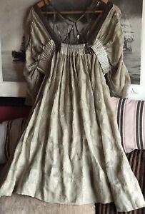 BCBG Maxazria 💓 Runway Stunning Beige Dress Size S Silk/Cotton