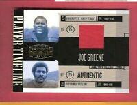 JOE GREENE GAME USED JERSEY CARD #d 59/250 06 GRIDIRON GEAR PITTSBURGH STEELERS