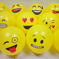 100Pcs Expression Emoji Latex Helium Ballons Birthday Party Wedding Decor Supply