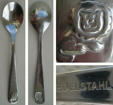 1 Child's Spoon with a Lion Design - Stainless Steel / Edelstahl - Cutlery