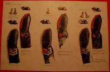 7 Planches d'uniformes Jean Boudriot